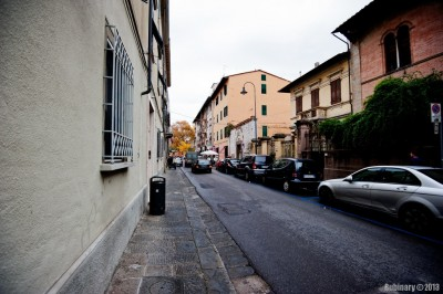The streets of Pisa.