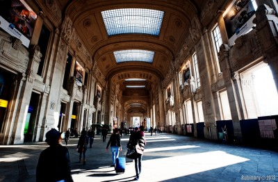 Milano Centrale Train Station.