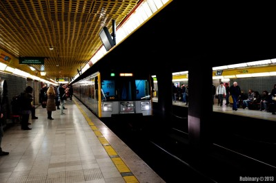 Subway of Milan.