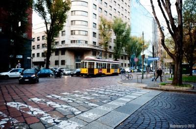 Streets of Milan.