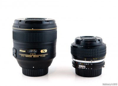 Nikkor 85mm f/1.4G vs Nikkor 50mm f/1.2 AI-S.