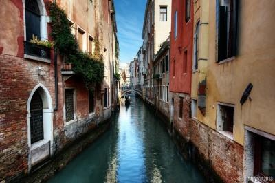 Sunny day in Venice.