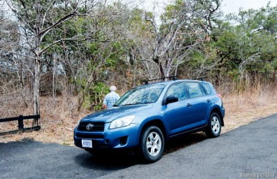 Our rental — Toyota RAV4.