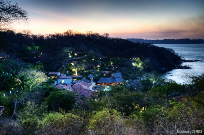 Hilton Papagayo from the top.