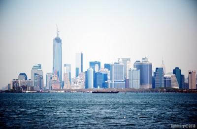 Manhattan in haze.