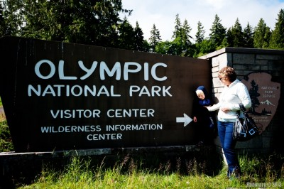 Olympic National Park entrance.