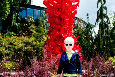 Arosha at Chihuly Garden and Glass.