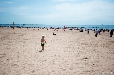 Coney Island beach.