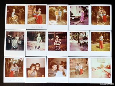 Some Polaroid photographs.