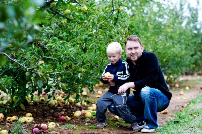 Us at apple orchard.