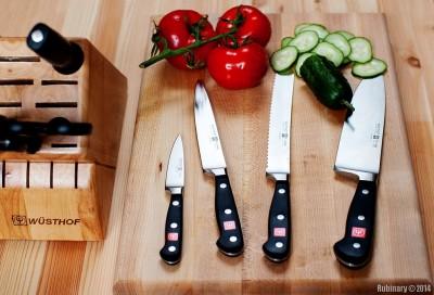 Wusthof Classic knives.
