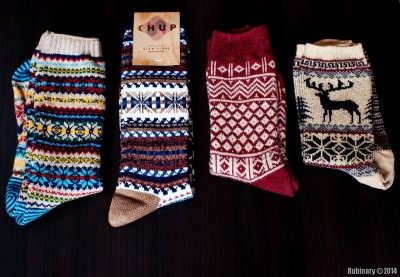 Japanese winter socks.