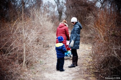 On a trail at Jamaica Bay.