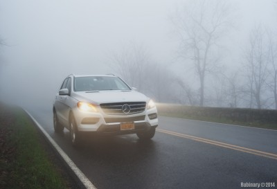 Shenandoah fog and our car.