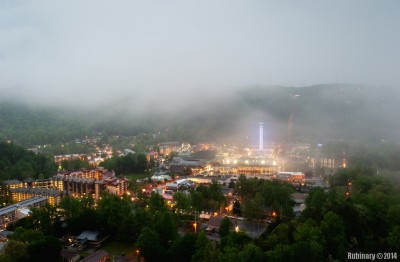 View from the window of our Gatlinburg hotel.