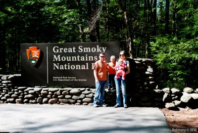 Great Smoky Mountains National Park entrance.