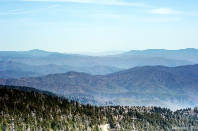 Great Smoky Mountains. View from Clingmans Dome.