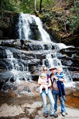 Us at Laurel Falls.