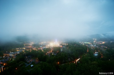 Gatlinburg. View from our hotel.