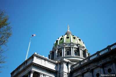 Dome of Pennsylvania Capitol.