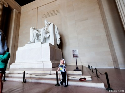 Inside of Lincoln Memorial.