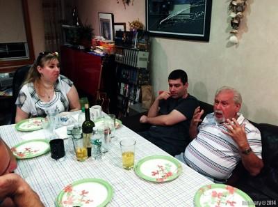Birthday guests.