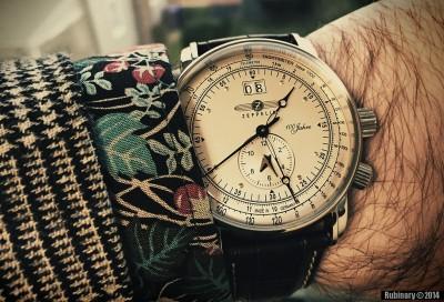 Zeppelin watch on my hand.