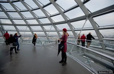 At the top of Reichstag dome.