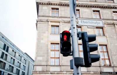 West Berlin traffic light.