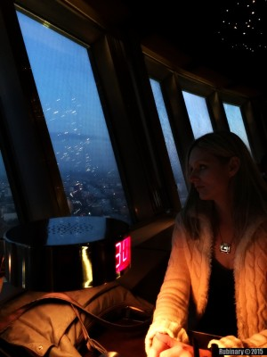 Rotating restaurant at the top of TV Tower.