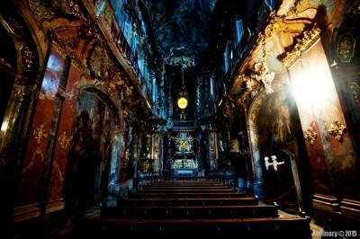Inside Asamkirche.