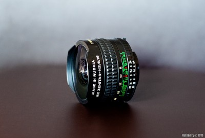 Zenitar 16mm f/2.8 Fisheye lens.