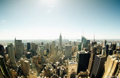 New York through fisheye.
