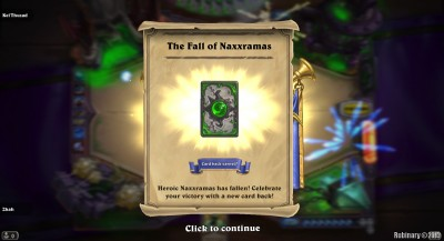 Defeated Curse of Naxxramas on Heroic difficulty.