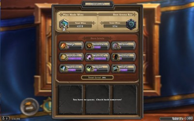 My latest Hearthstone stats.