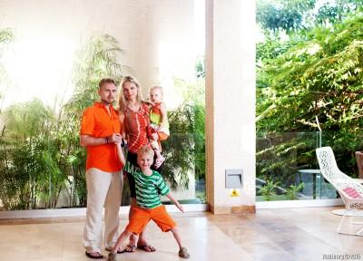 Orange family unit.