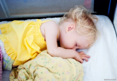 Anюta sleeping.