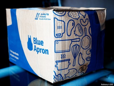 Blue Apron box.