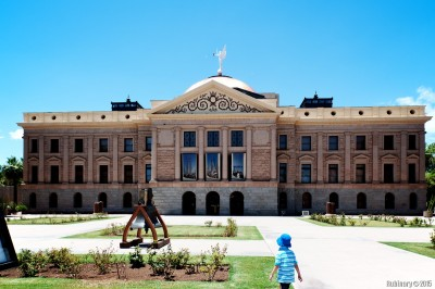 Arizona capitol building in Phoenix.