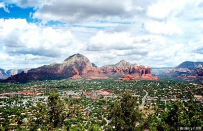 View of Sedona from the local airport.