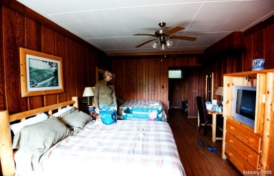 Our room at the Big Meadows Lodge.