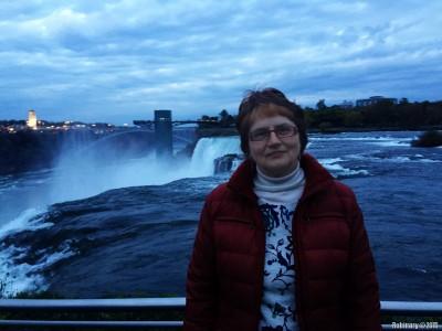Mama at Niagara Falls.