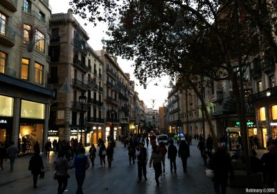 Streets of Barcelona.