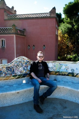 On the roof at Park Güell.