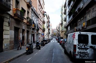Streets of Barcelona. Not La Rambla.