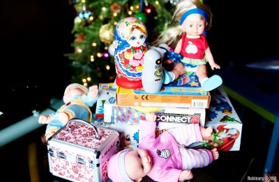 Fraction of gifts for kids.