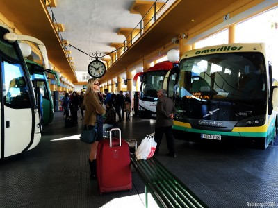Bus station in Seville.