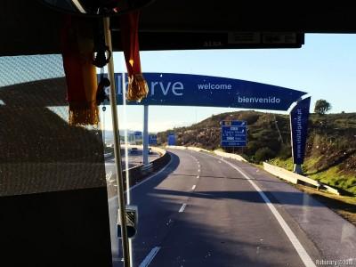 Entering Portugal.