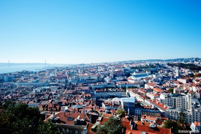 Lisbon from the castle.