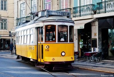 Lisbon trams.